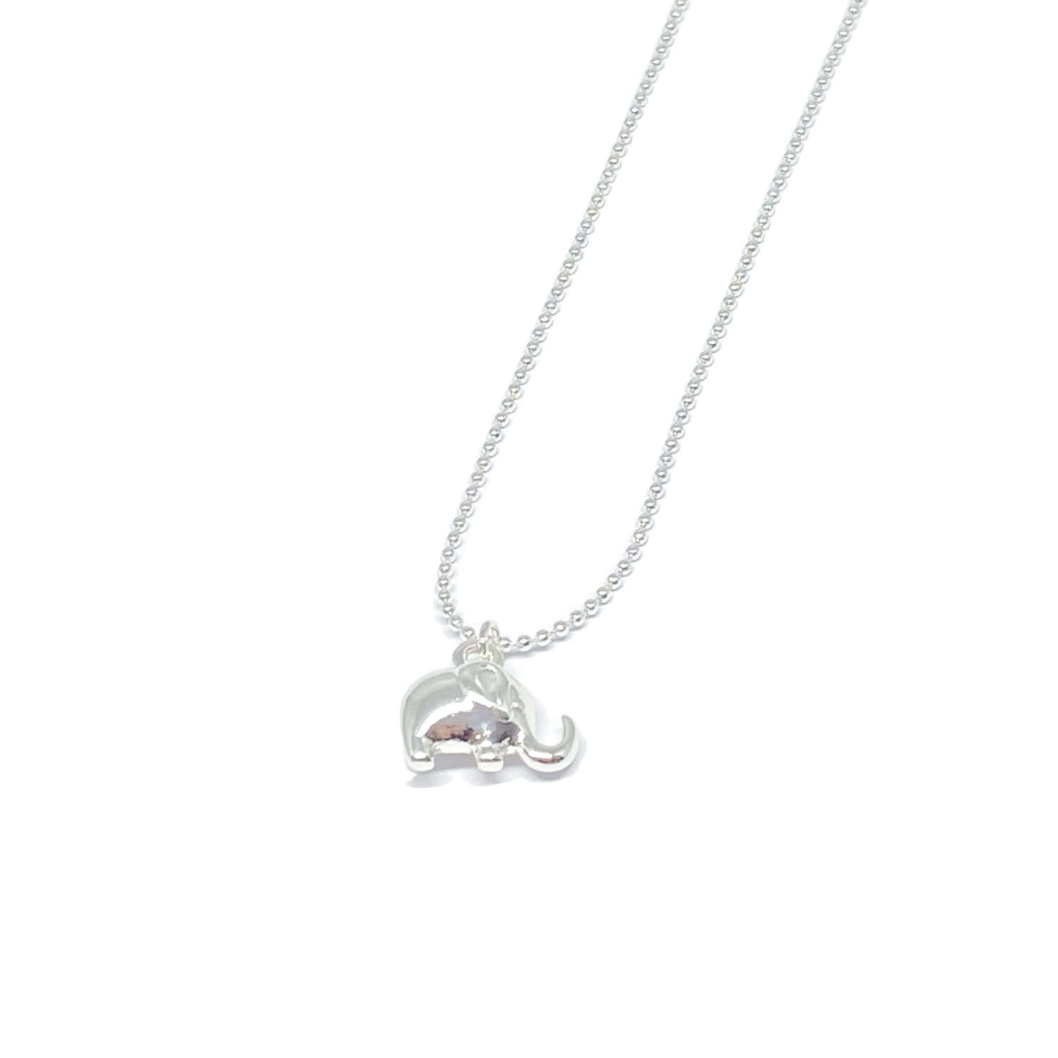 Daisy Elephant Necklace - Silver