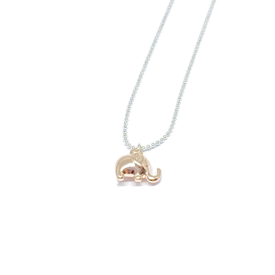 Daisy Elephant Necklace - Rose Gold
