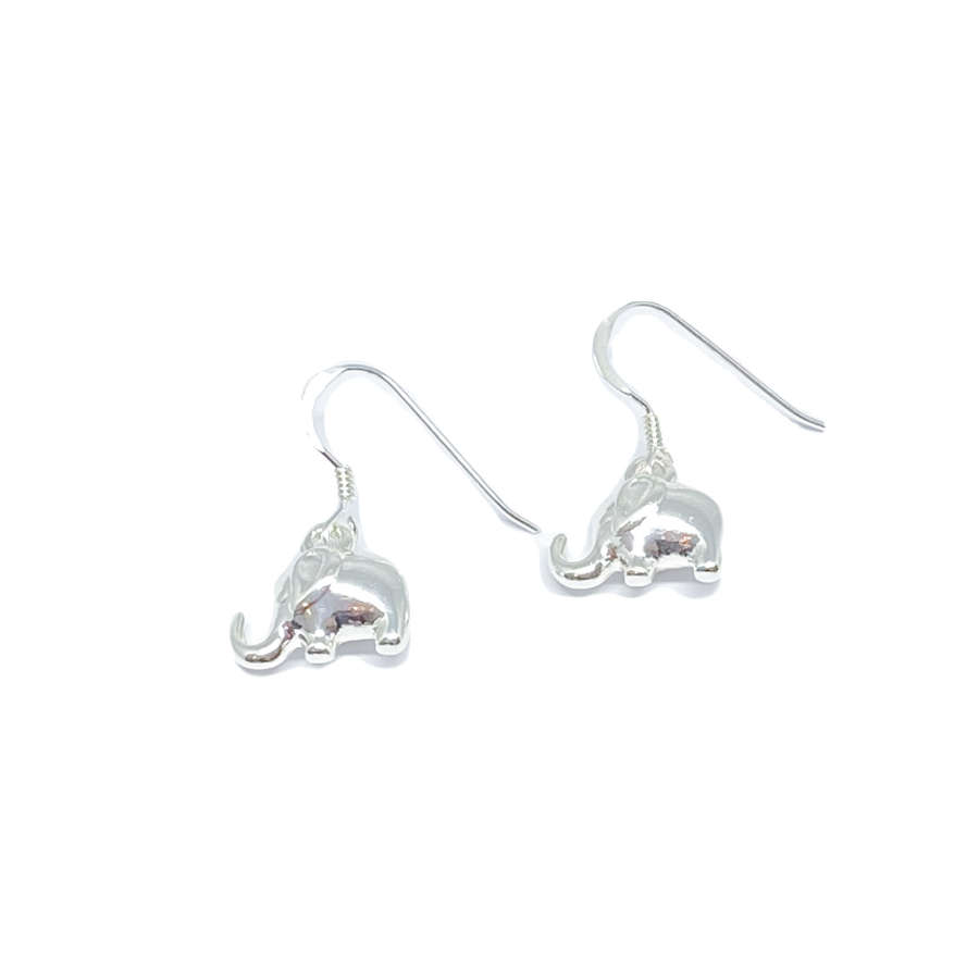 Daisy Elephant Earrings - Silver