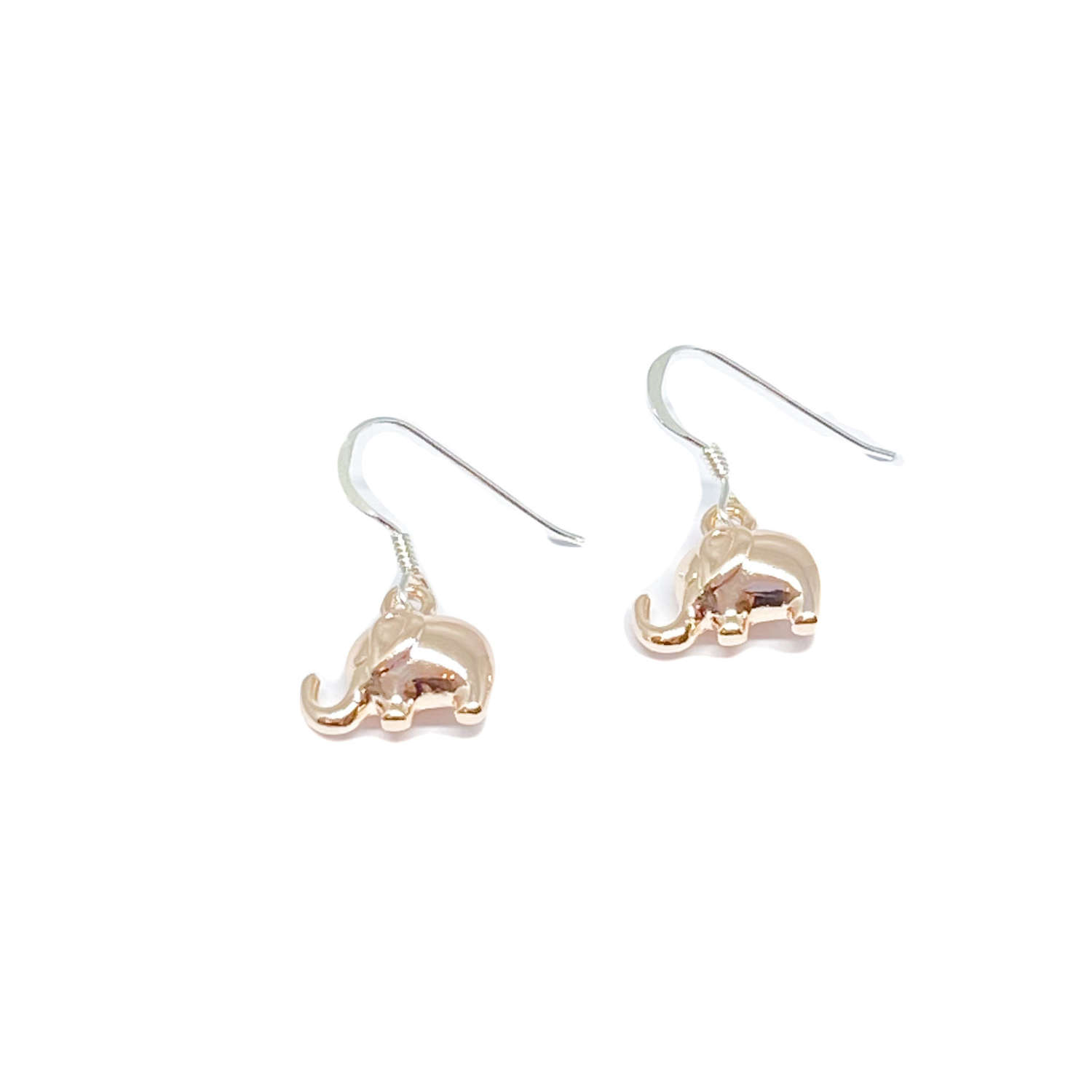 Daisy Elephant Earrings - Rose Gold