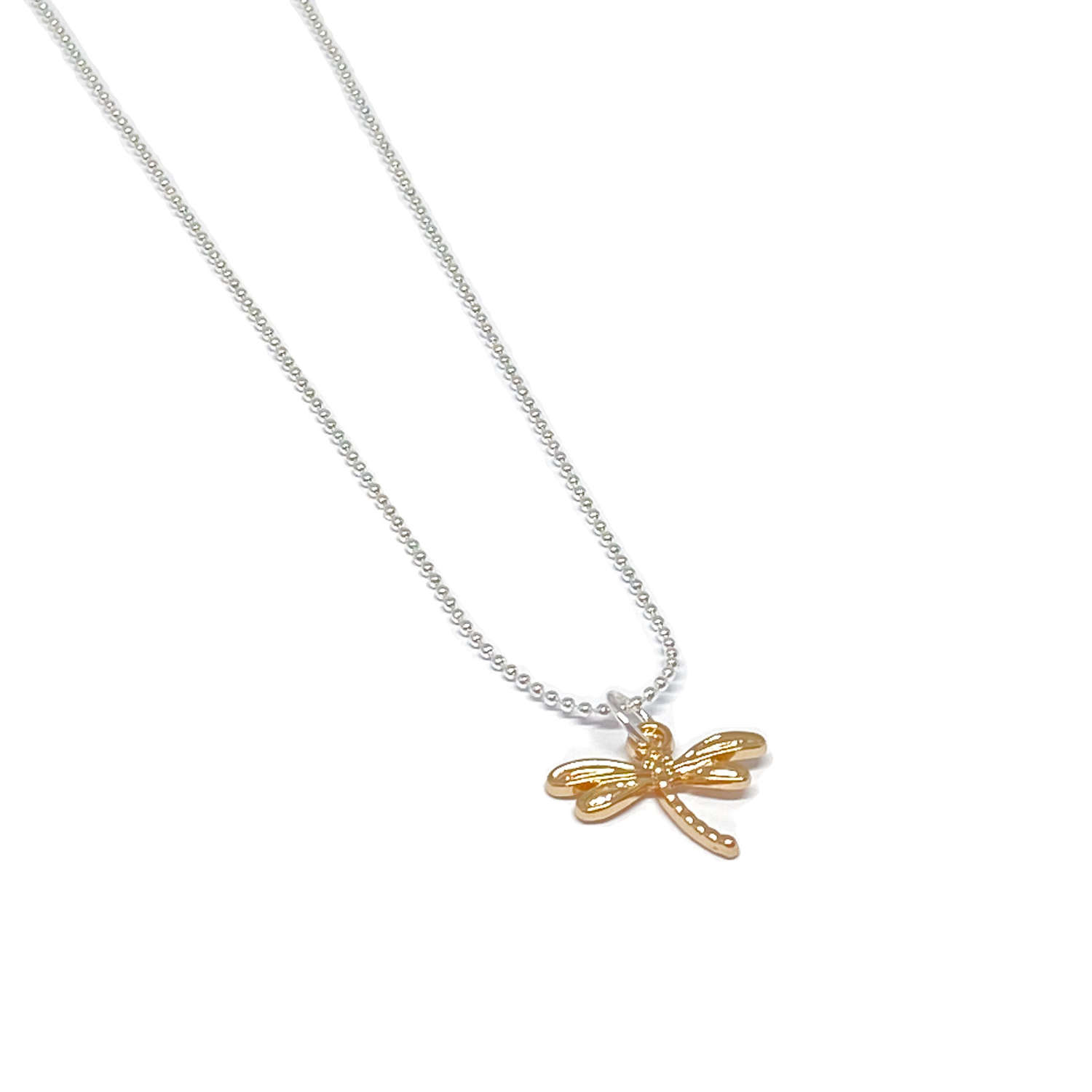 Daisy Dragonfly Necklace - Gold