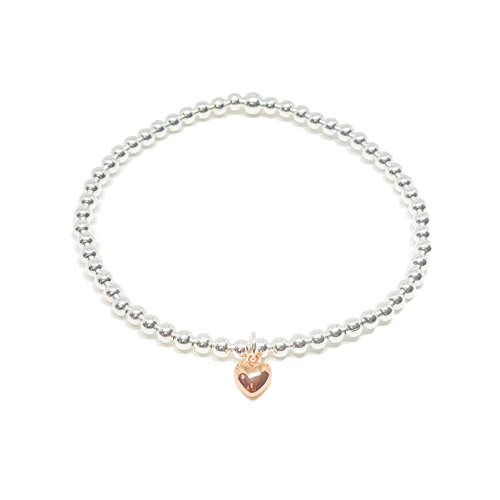 Maisy Mini Heart Bracelet - Rose Gold