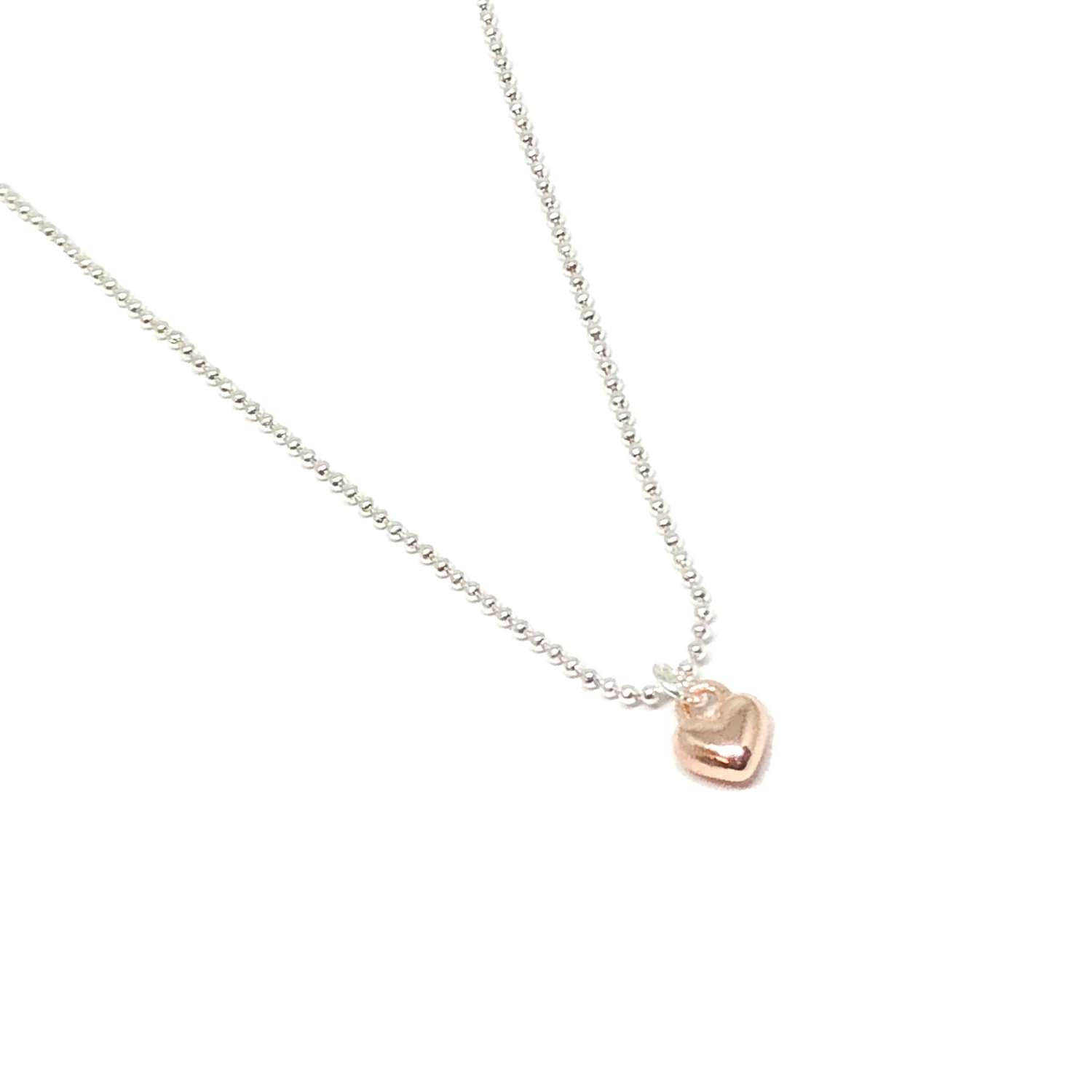 Maisy Mini Heart Necklace - Rose Gold