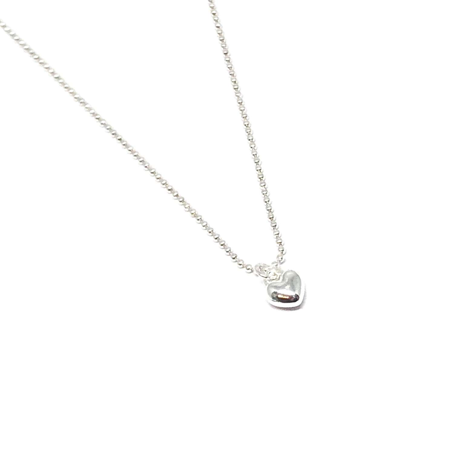 Maisy Mini Heart Necklace - Silver