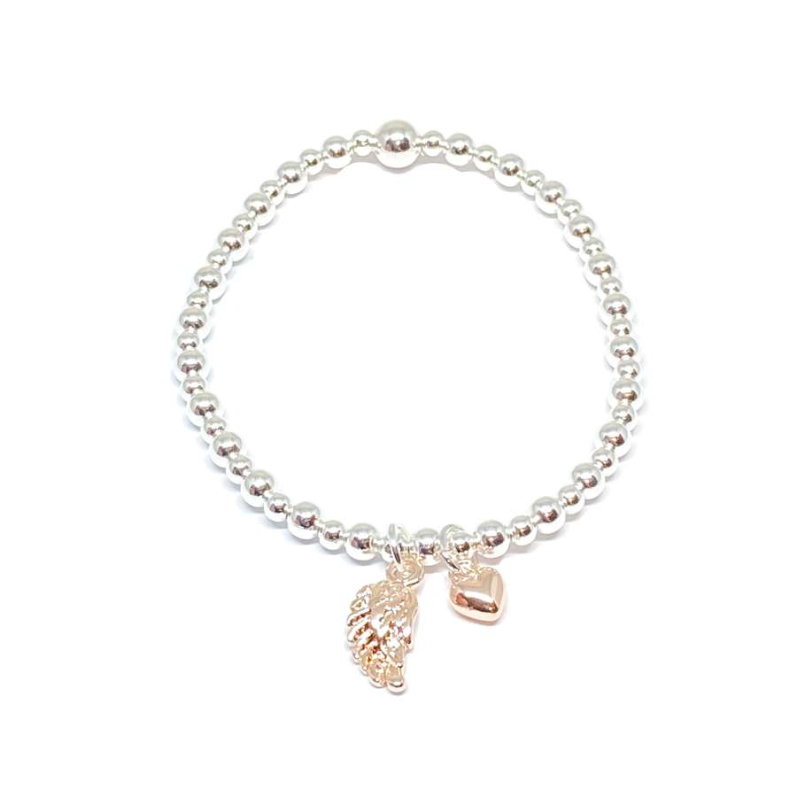 Sophia Angel Wing Bracelet - Rose Gold