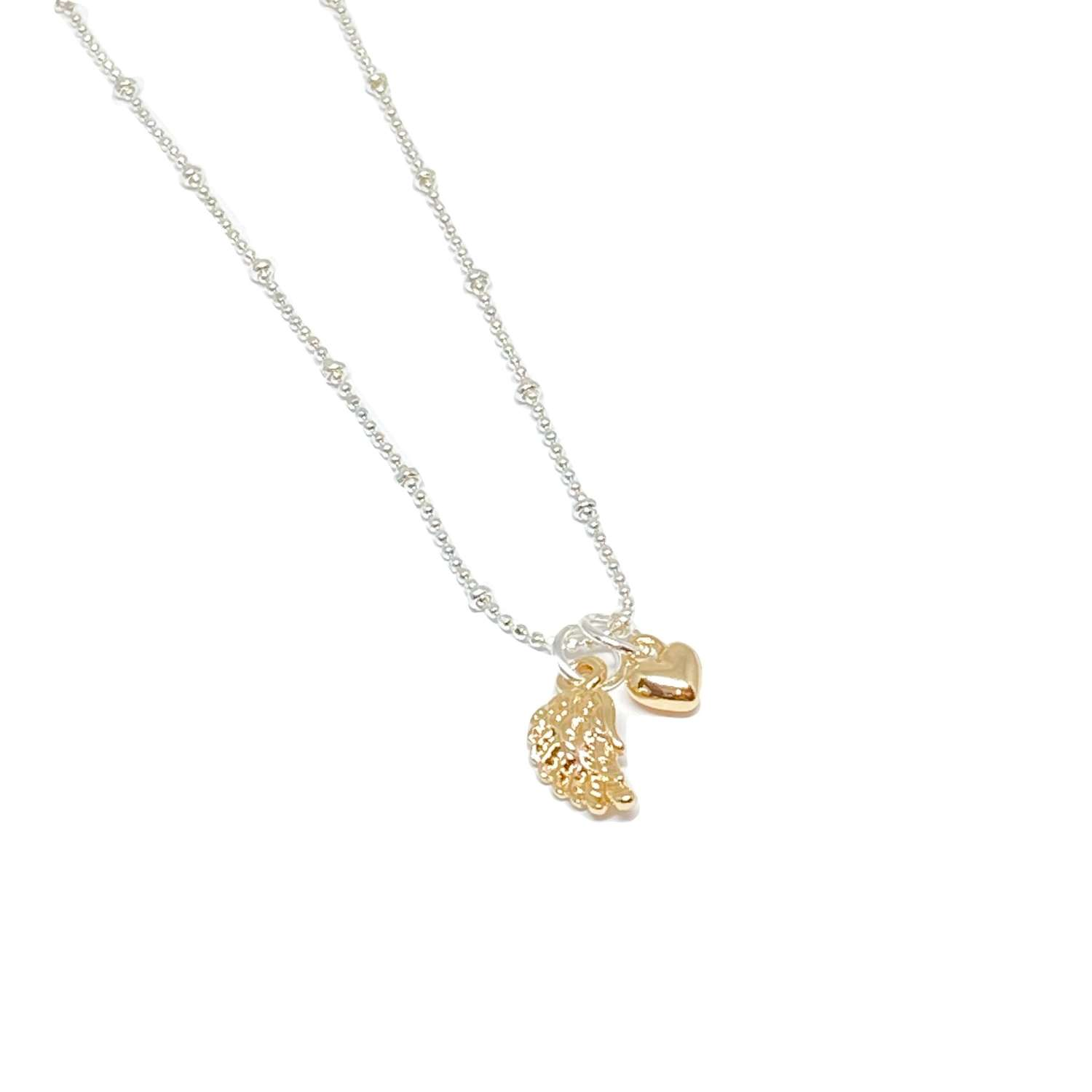 Sophia Angel Wing Necklace - Gold