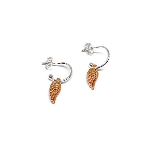 Sophia Angel Wing Earrings - Rose Gold