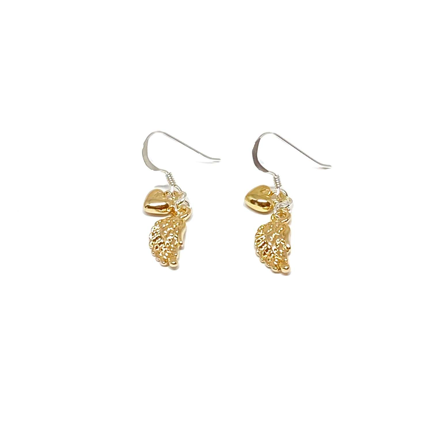 Sophia Angel Wing Earrings - Gold