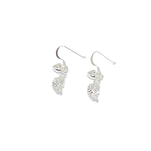 Sophia Angel Wing Earrings - Silver
