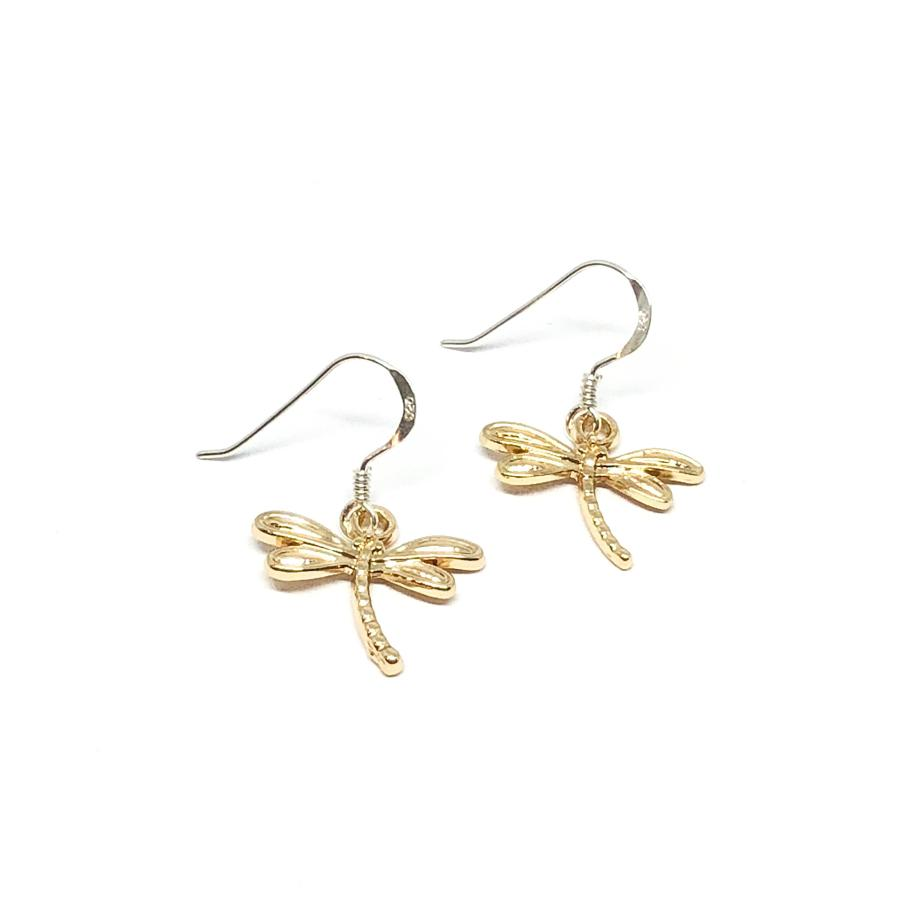 Daisy Dragonfly Earrings - Gold