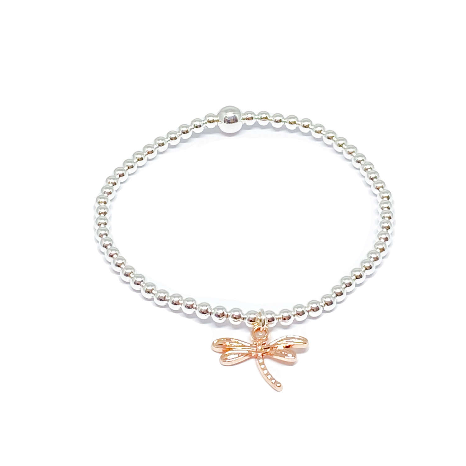 Daisy Dragonfly Bracelet - Rose Gold
