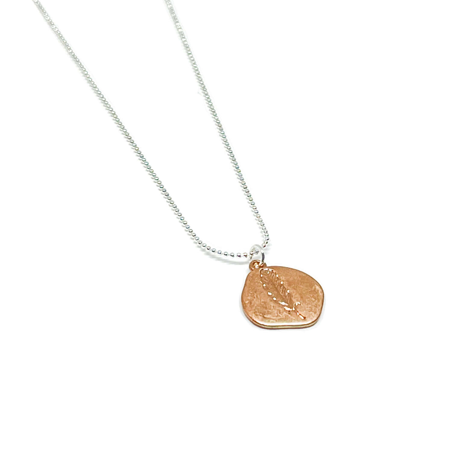 Leah Leaf Necklace - Rose Gold