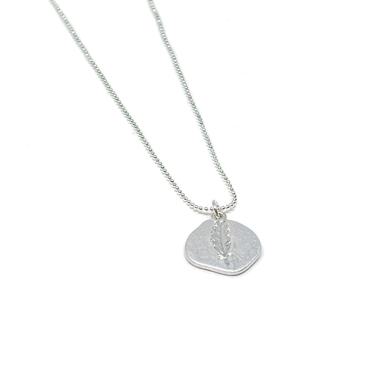 Leah Leaf Necklace - Silver