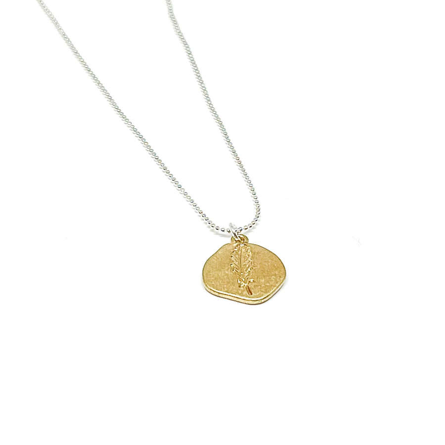 Leah Leaf Necklace - Gold