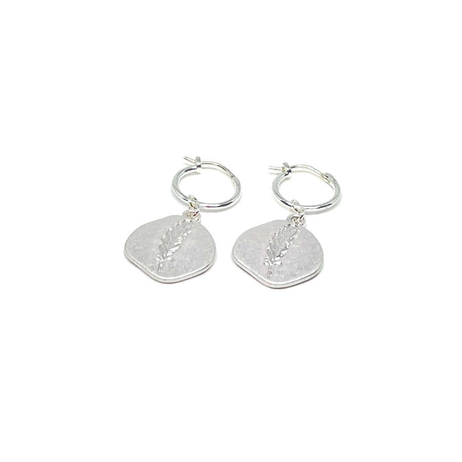 Leah Sterling Silver Leaf Earrings - Silver