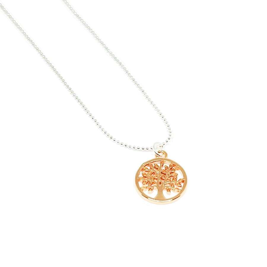 Taylor Tree Necklace - Rose Gold
