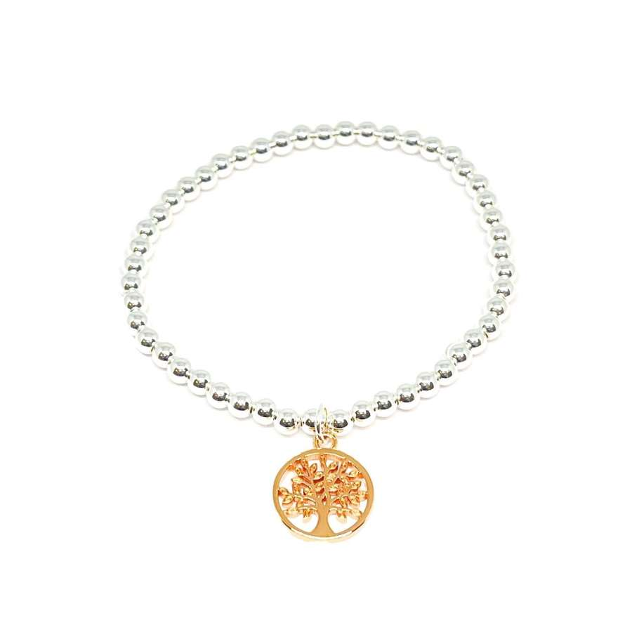 Taylor Tree Charm Bracelet - Rose Gold