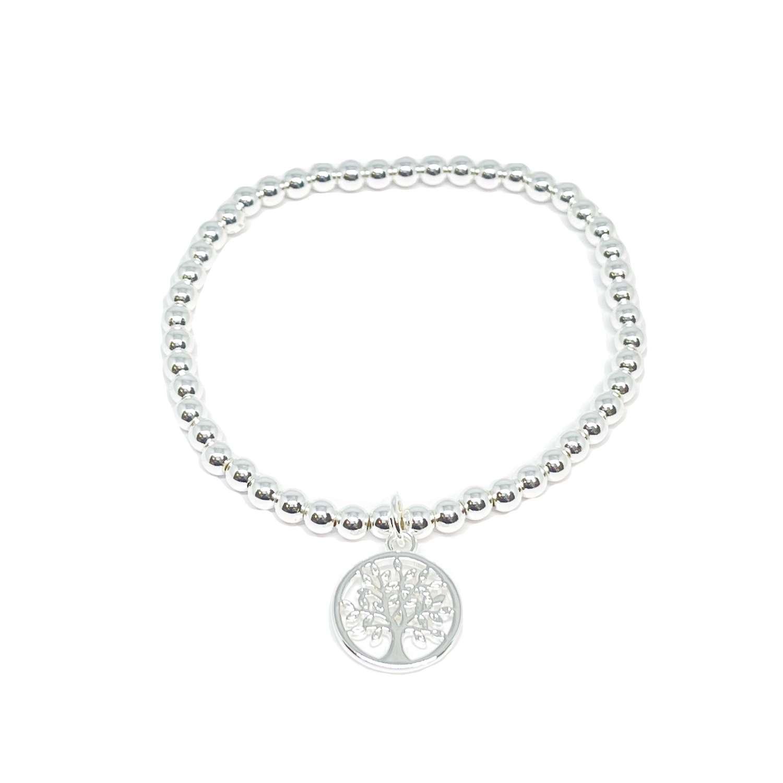 Taylor Tree Charm Bracelet - Silver