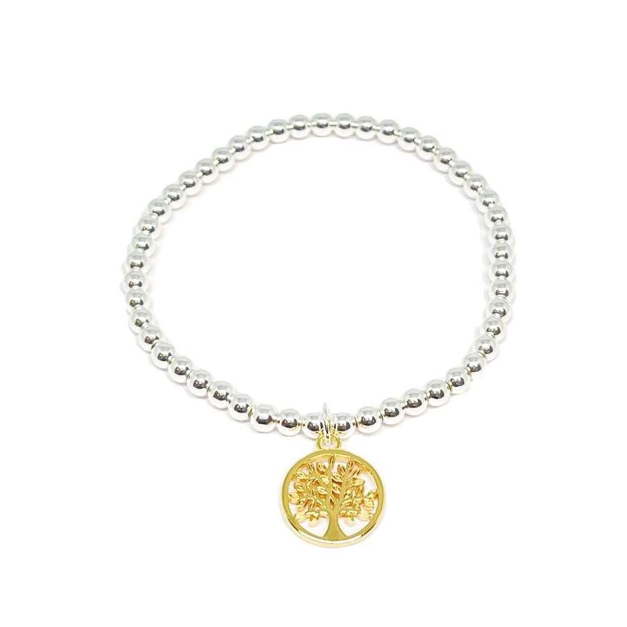 Taylor Tree Charm Bracelet - Gold
