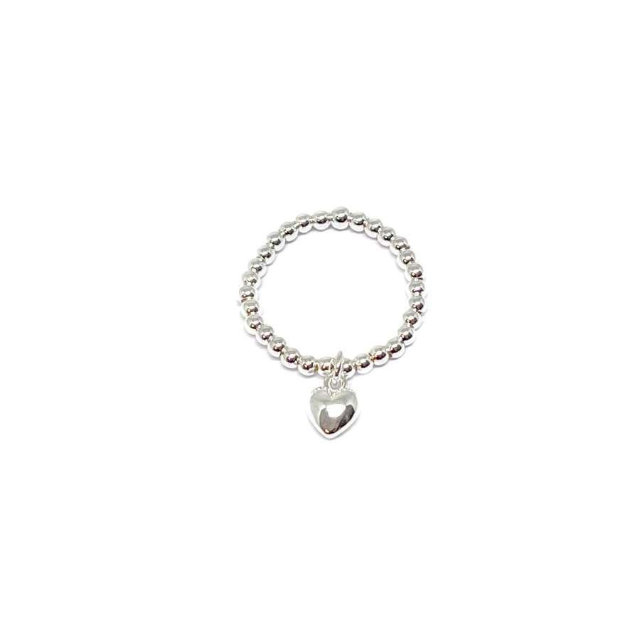 Rachel Heart Ring - Silver