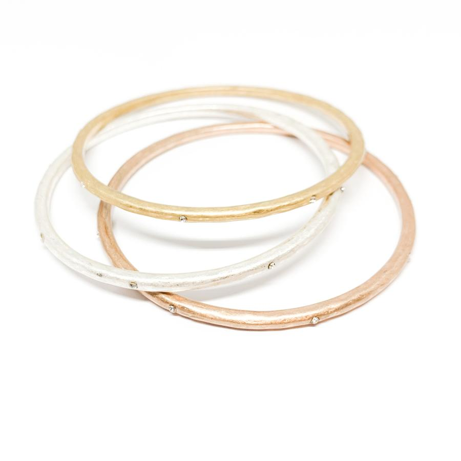 Leah Bangle Bracelets - Set of Three
