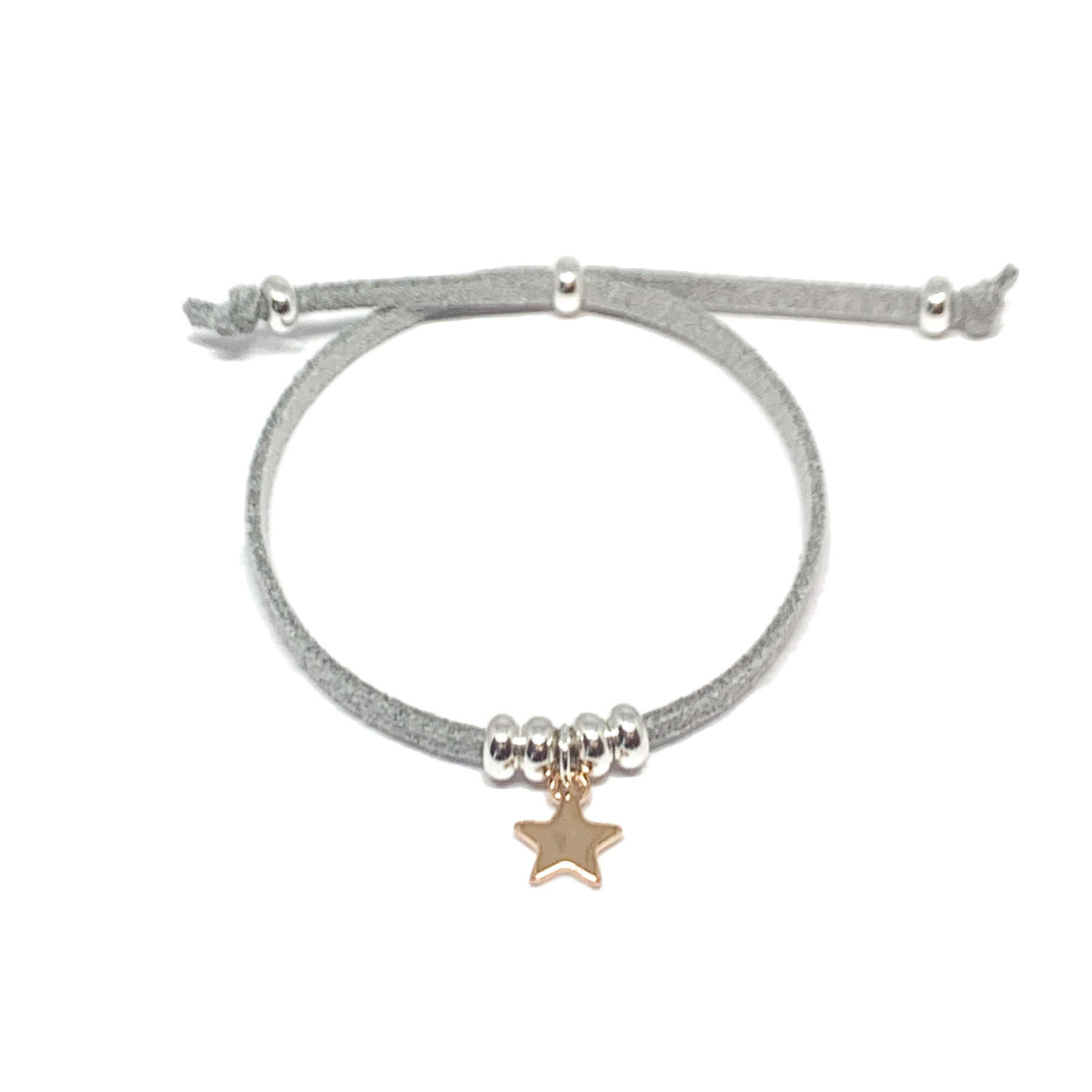 Helena Star Light Grey Bracelet - Rose Gold