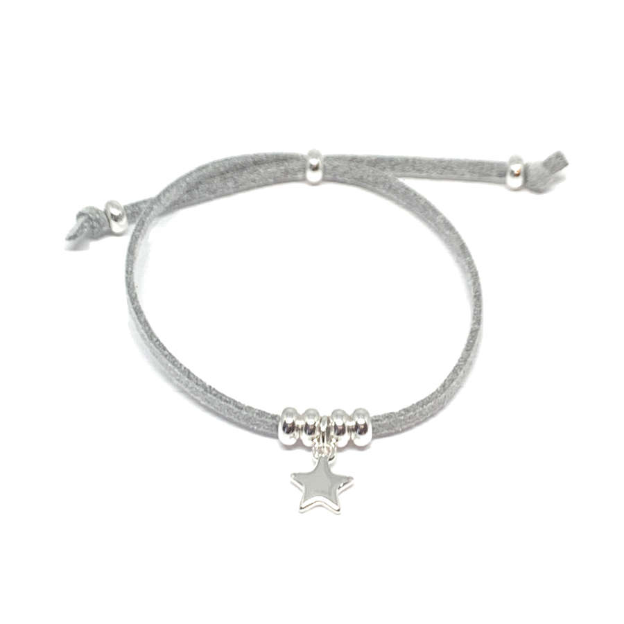Helena Star Light Grey Bracelet - Silver
