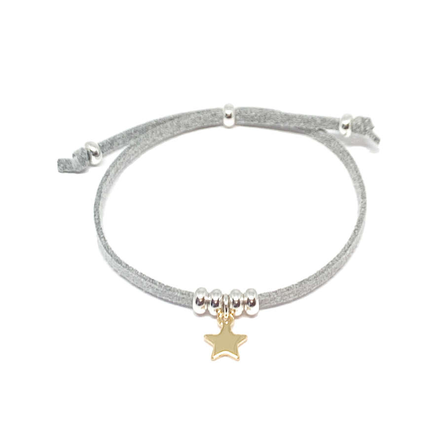 Helena Star Light Grey Bracelet - Gold