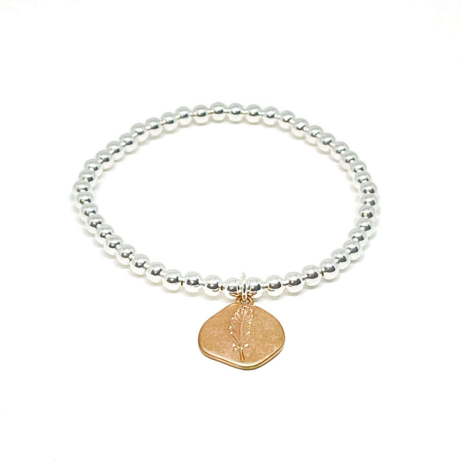 Leah Leaf Bracelet - Rose Gold