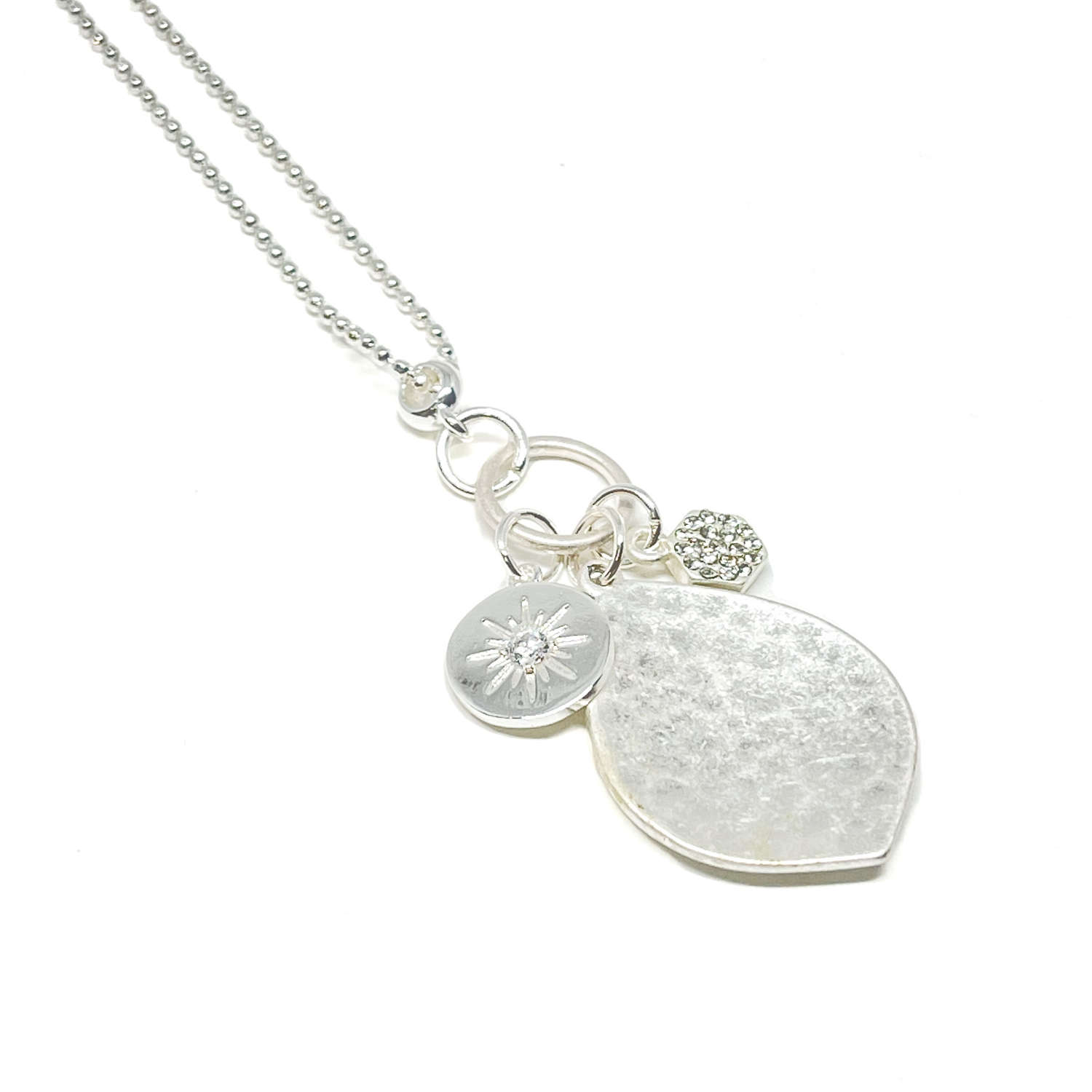 Petra Charm Necklace - Silver