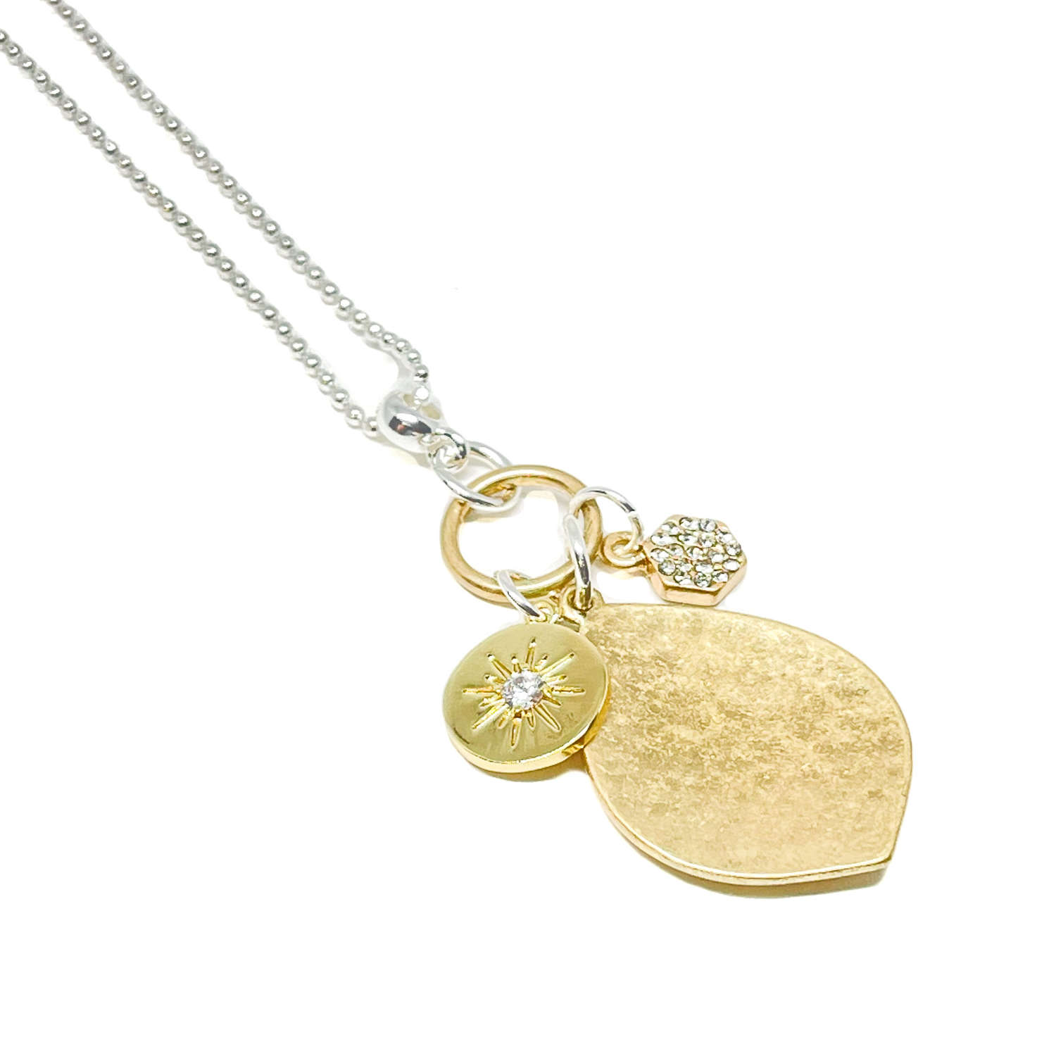 Petra Charm Necklace - Gold