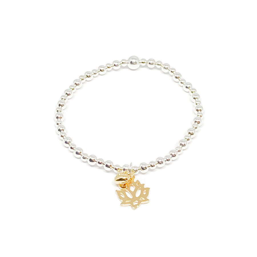 India Lotis Flower Bracelet - Gold