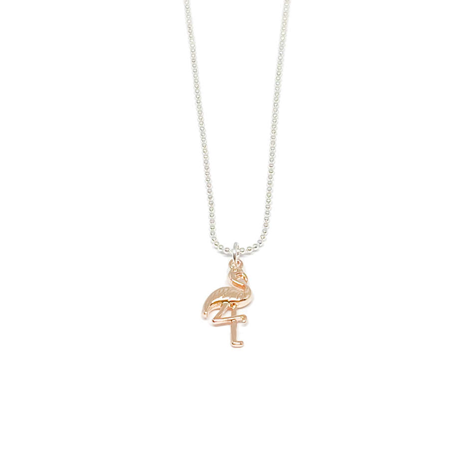 Fifi Flamingo Necklace - Rose Gold
