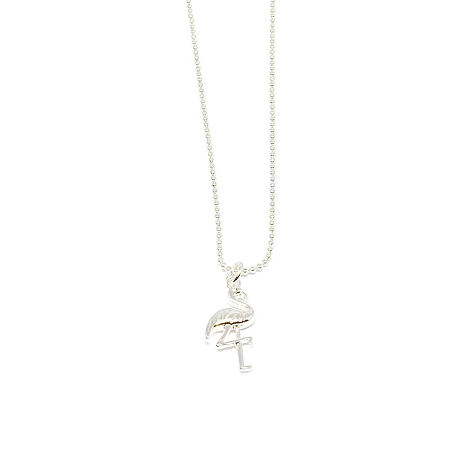 Fifi Flamingo Necklace - Silver