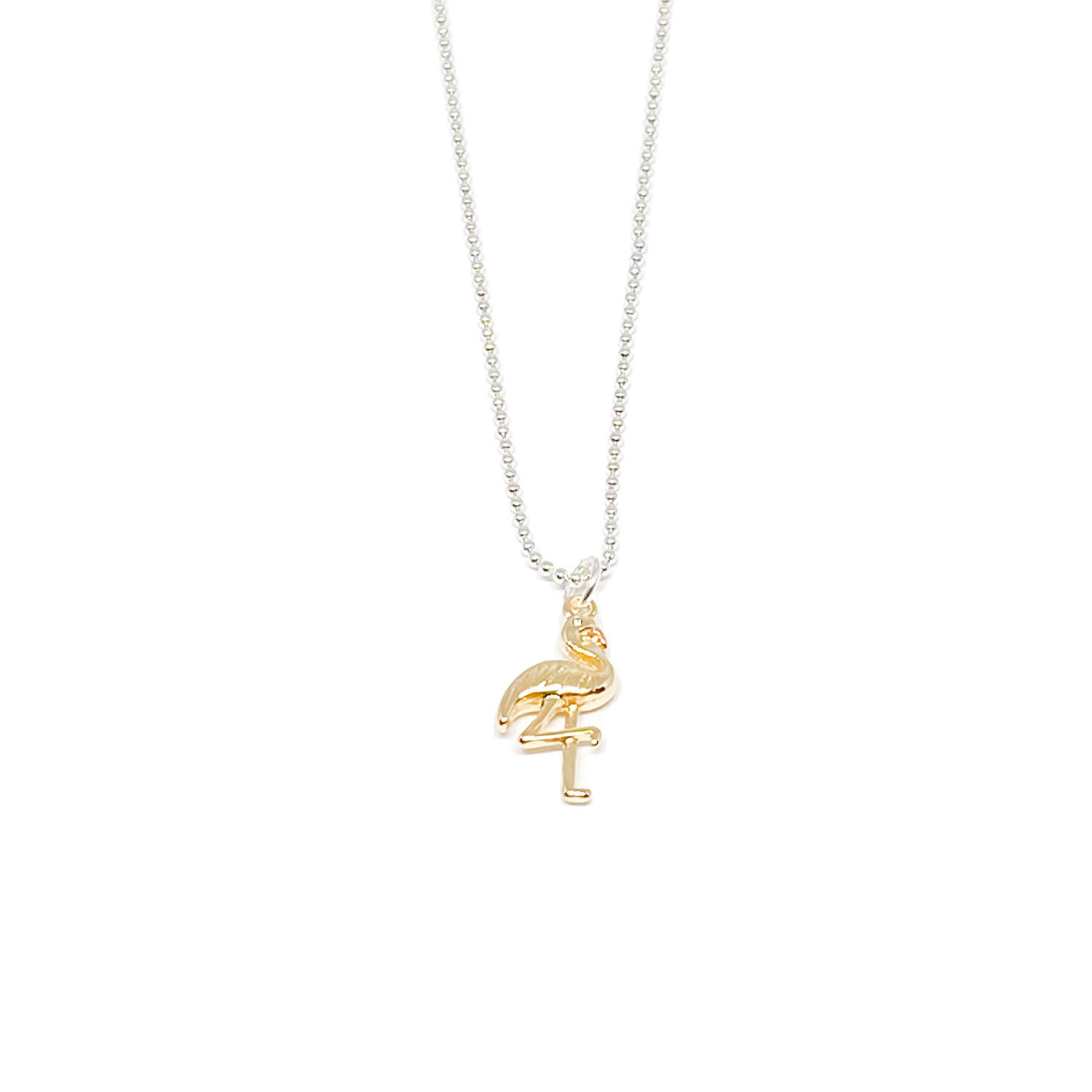Fifi Flamingo Necklace - Gold