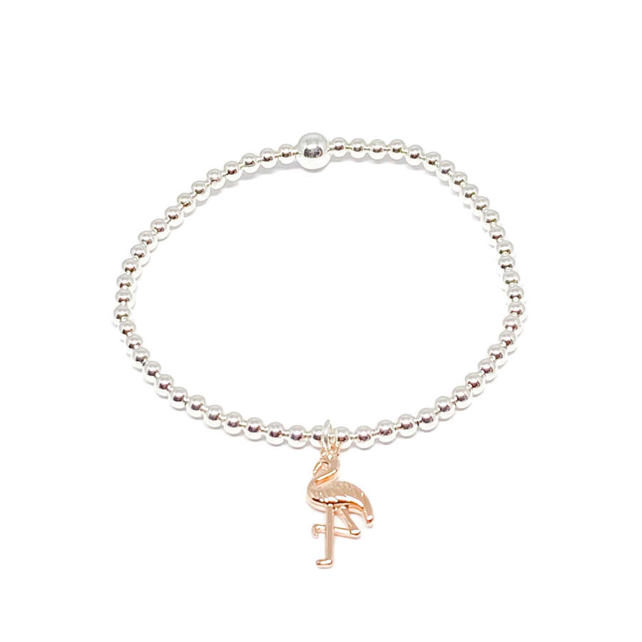 Fifi Flamingo Bracelet - Rose Gold
