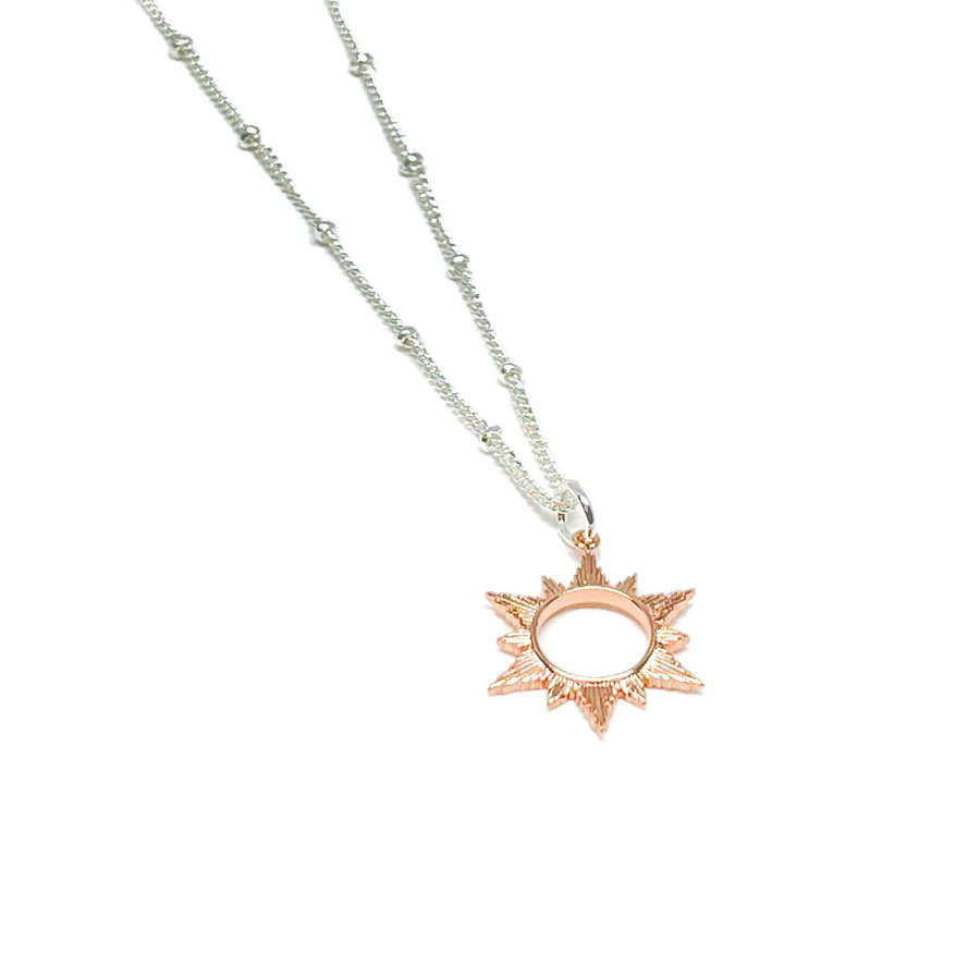 Ophelia Sun Necklace- Rose Gold