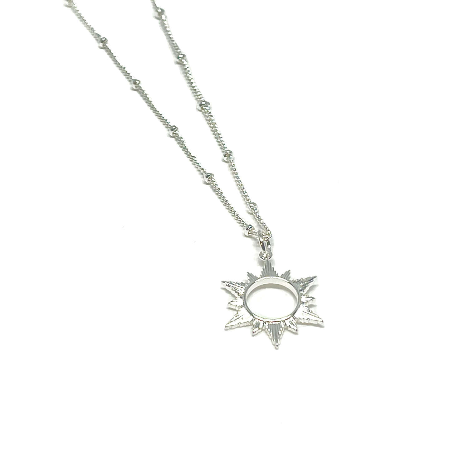 Ophelia Sun Necklace - Silver