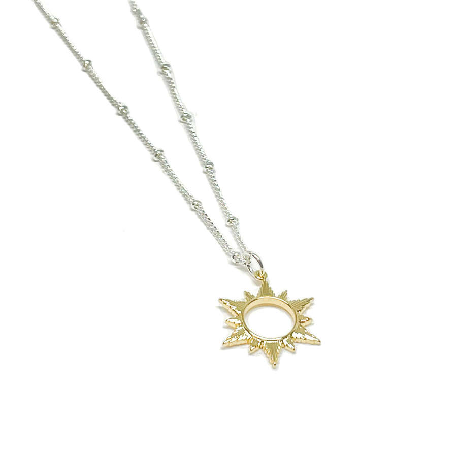 Ophelia Sun Necklace - Gold
