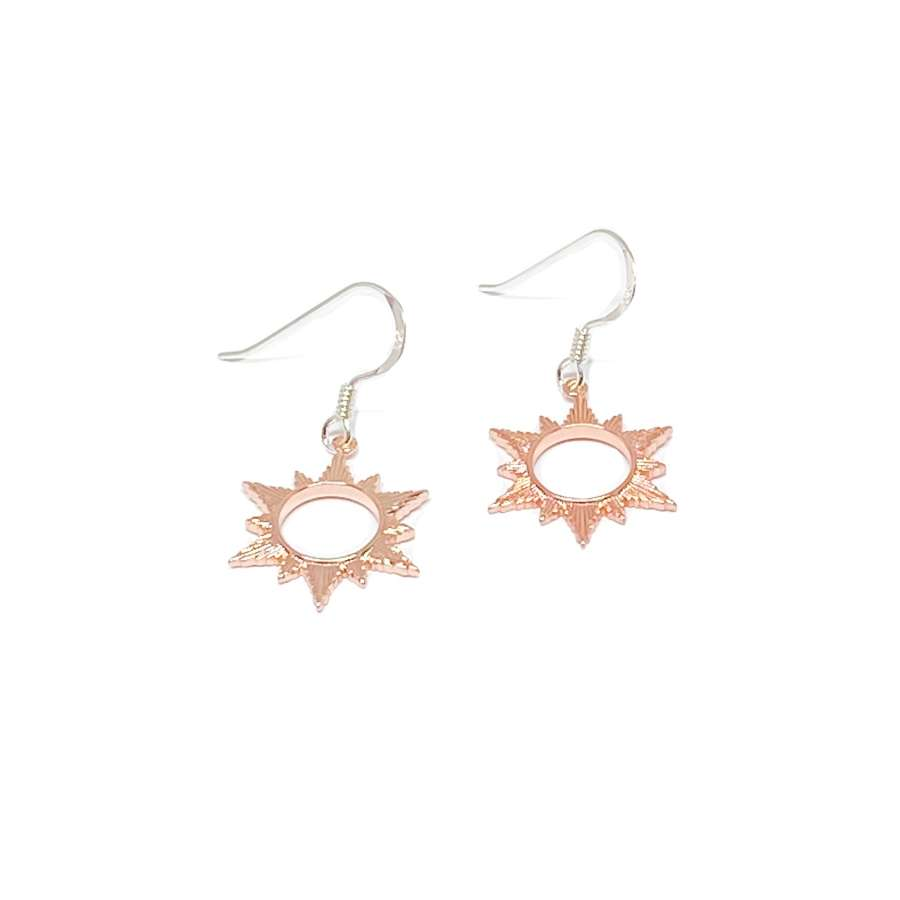 Ophelia Sun Sterling Silver Earrings - Rose Gold