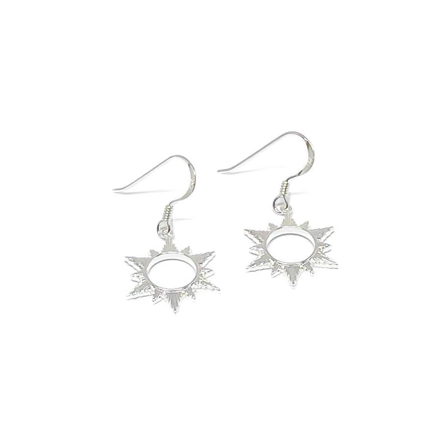 Ophelia Sun Sterling Silver Earrings - Silver