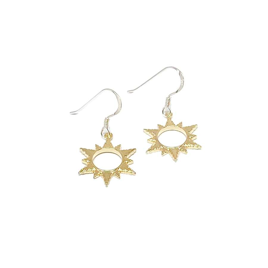 Ophelia Sun Sterling Silver Earrings - Gold