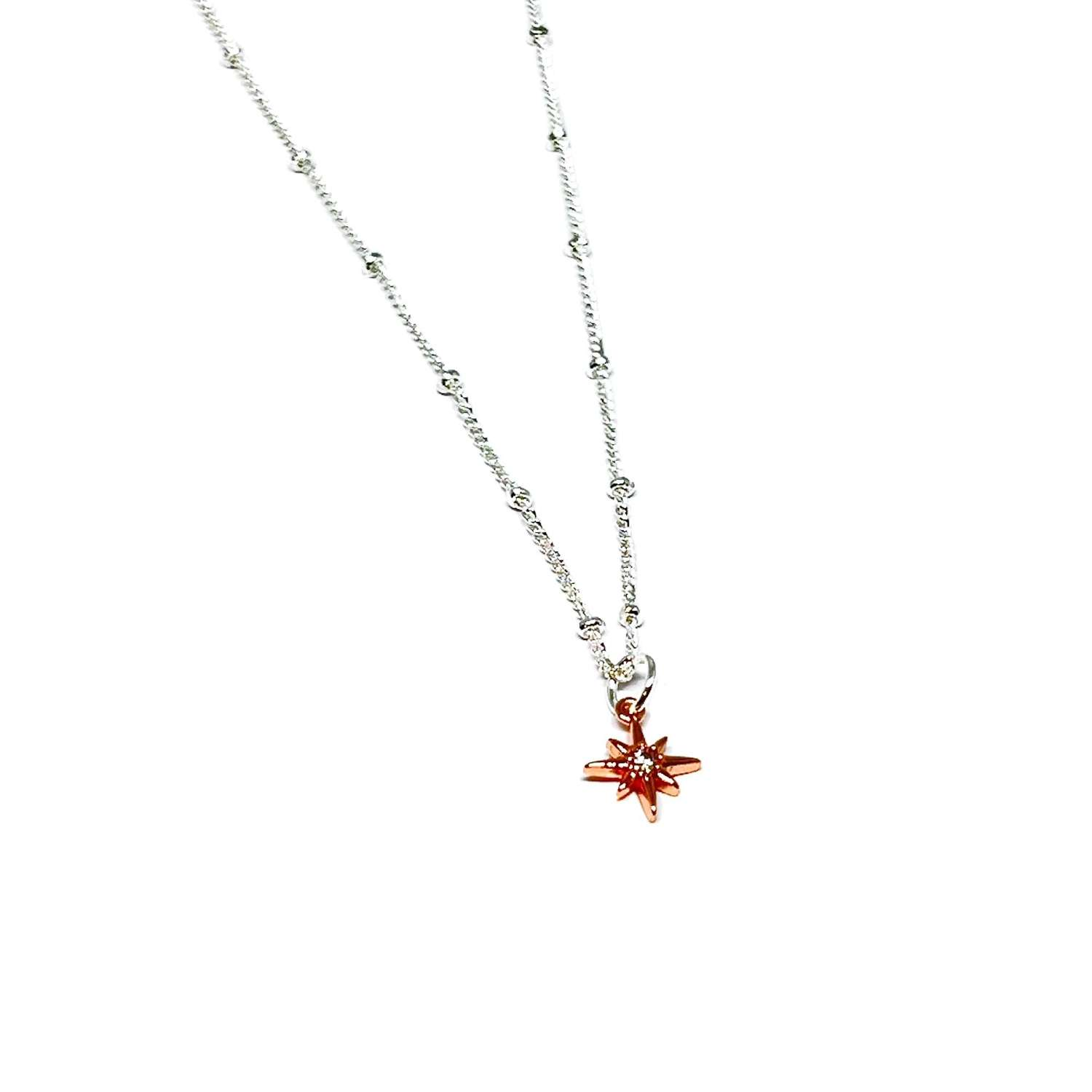 Zuri Star Necklace - Rose Gold