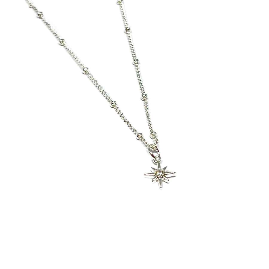 Zuri Star Necklace - Silver