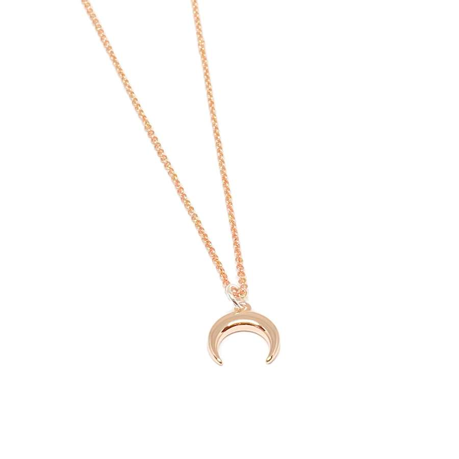 Torah Horn Necklace - Rose Gold
