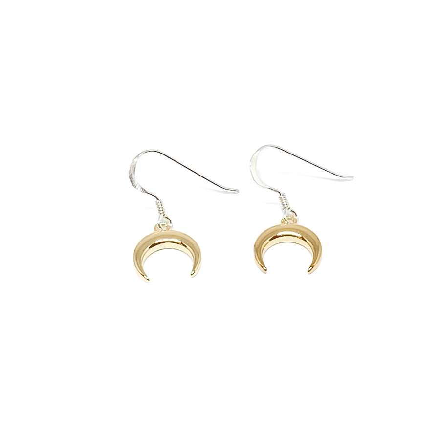 Torah Horn Sterling Silver Earrings - Gold