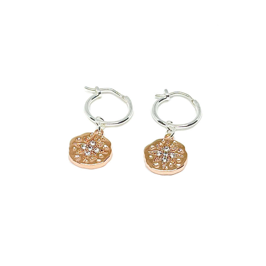 Rosalie Sterling Silver Hoop Earrings - Rose Gold