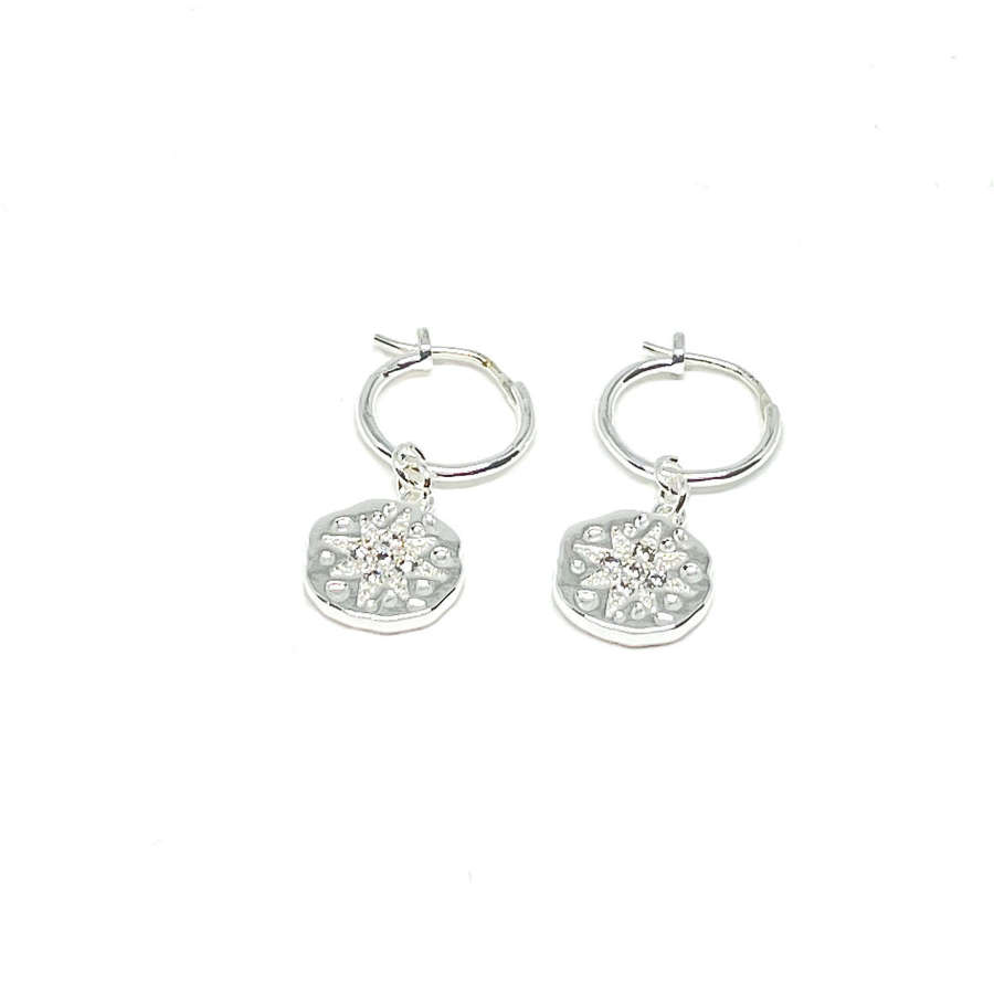 Rosalie Sterling Silver Hoop Earrings - Silver