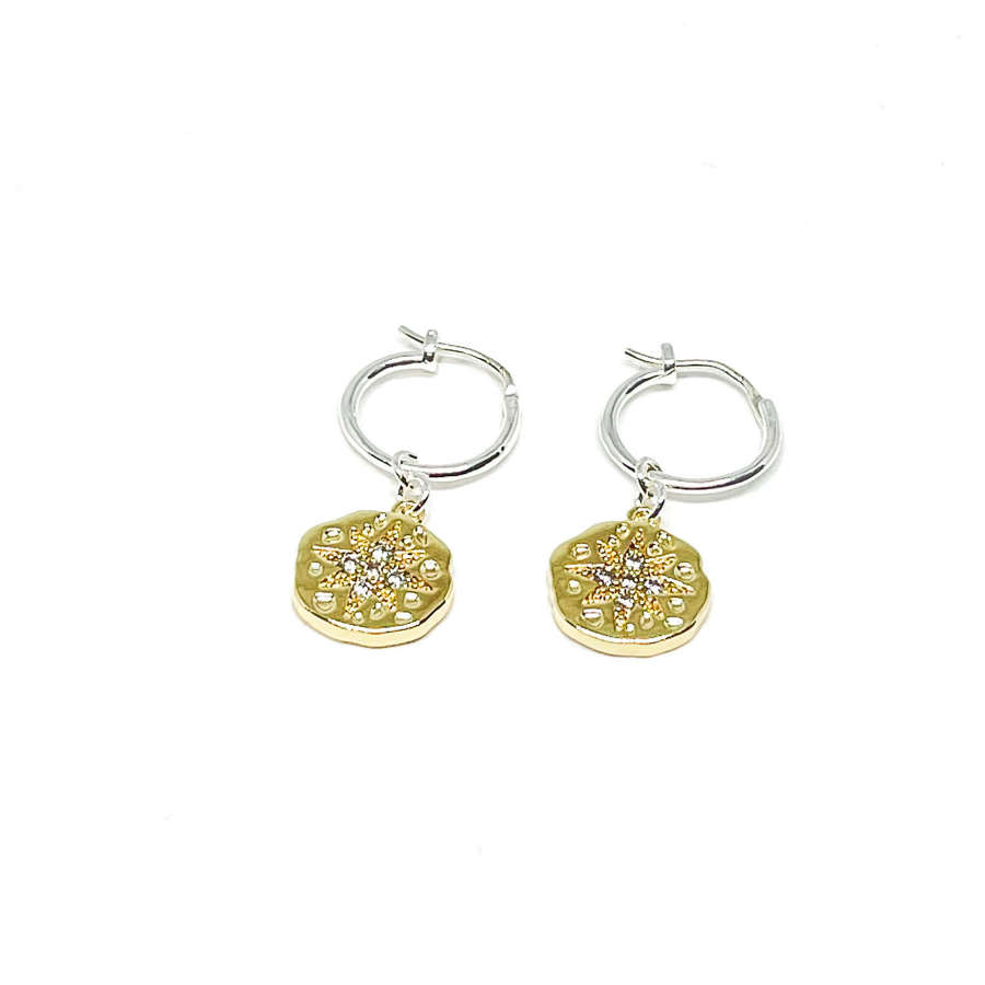 Rosalie Sterling Silver Hoop Earrings - Gold
