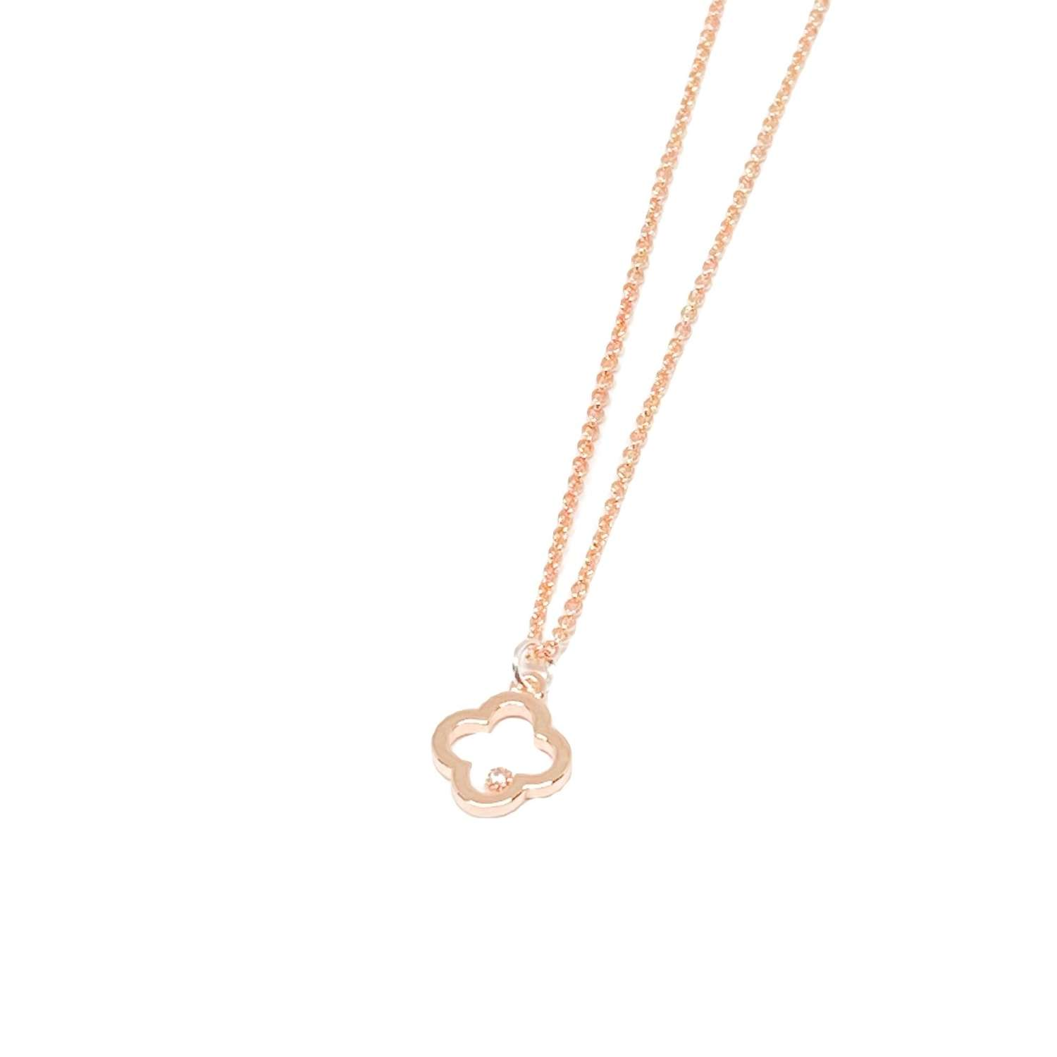 Fleur Charm Necklace - Rose Gold